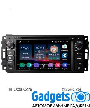 Штатная магнитола для Jeep Dodge Chrysler  FlyAudio G2201 на Android 6.0 (8 ядер)