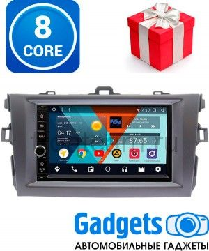 Wide Media WM-VS7A706NB-RP-TYCV14Xc-11 Штатная магнитола для Toyota Corolla X 2006-2013 (темно-серая) Android 7.1.2