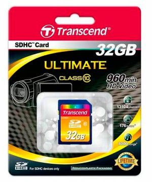 Карта памяти Transcend SD Card 32Gb, класс 10, SDHC