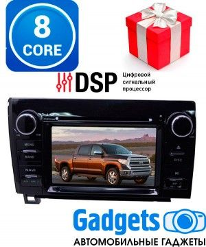 LeTrun 2450 штатная магнитола для Toyota Tundra II 2007-2013, Sequoia II 2008-2018 с DSP процессором, на Android 8.0.1 c 4GB оперативной памяти